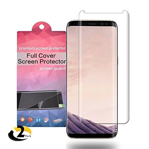 Galaxy S8 Schutzfolie ,Acoverbest [2 Stück] Ultra Transparenz Full HD, Blasenfrei, Anti-Fingerabdruck und Hohe Qualität Displayschutzfolie für Samsung Galaxy S8