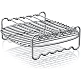 Philips HD9905/00 Airfryer Double Layer Rack with Skewers for Avance, X-Large, Silver
