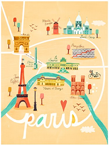 Baby Irene Four Poster (BR &Nameinternal - Map of Paris 18x24 canvas Wall Art, by Irene Chan)