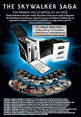 Pack Star Wars: The Skywalker Saga Blu-Ray 9 películas + 9 discos extra Blu-ray: Amazon.es: Carrie Fisher, Mark Hamill, Adam Driver, J.J Abrams, Carrie Fisher, Mark Hamill, Rick McCallum, Kathleen Kennedy, Allison