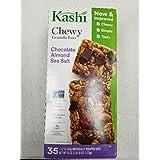 Kashi Chocolate Almond & Sea Salt with Chia Chewy Granola Bars. Total 35 Bars of 1.2 Oz Each