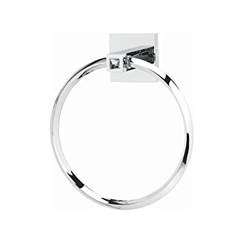 alno c8440pc ii crystal modern towel rings 6u0026quot polished chrome