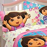 (Ship from USA) Dora the Explorer sheet pillow set 4 pieces bedding full size pink hearts new .PACKNO-FWEGB41S-1GH133
