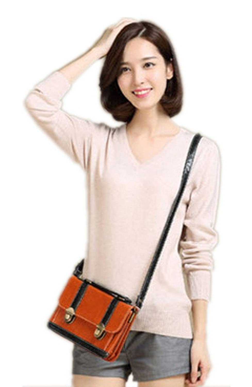 GetUBacK Womens Solid V-neck Slim Cashmere Pullover Sweater