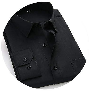 b2e5389c9aefd Large Size Men's Business Casual Long Sleeved Shirt White Blue Black ...