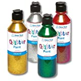 Baker Ross Green Glitter Paint Perfect for Decorating and Embellishing Christmas Arts and Crafts (Each) 300ml