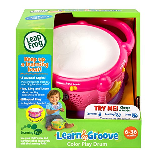 51Lech6XAKL - LeapFrog Learn & Groove Color Play Drum Bilingual, Pink (Amazon Exclusive)