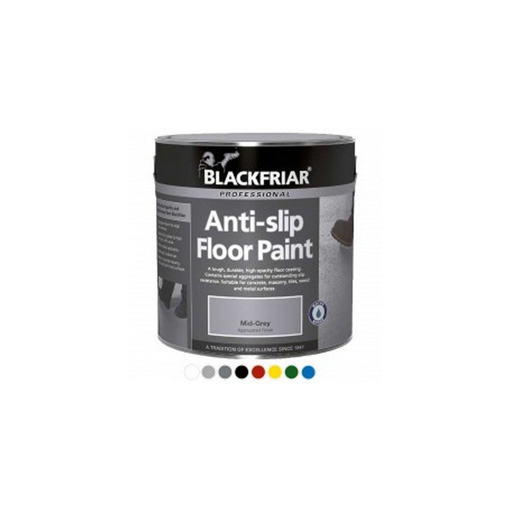 Blackfriar Anti-Slip Floor Paint for Indoor or Outdoor Use 5 Litres Light Grey