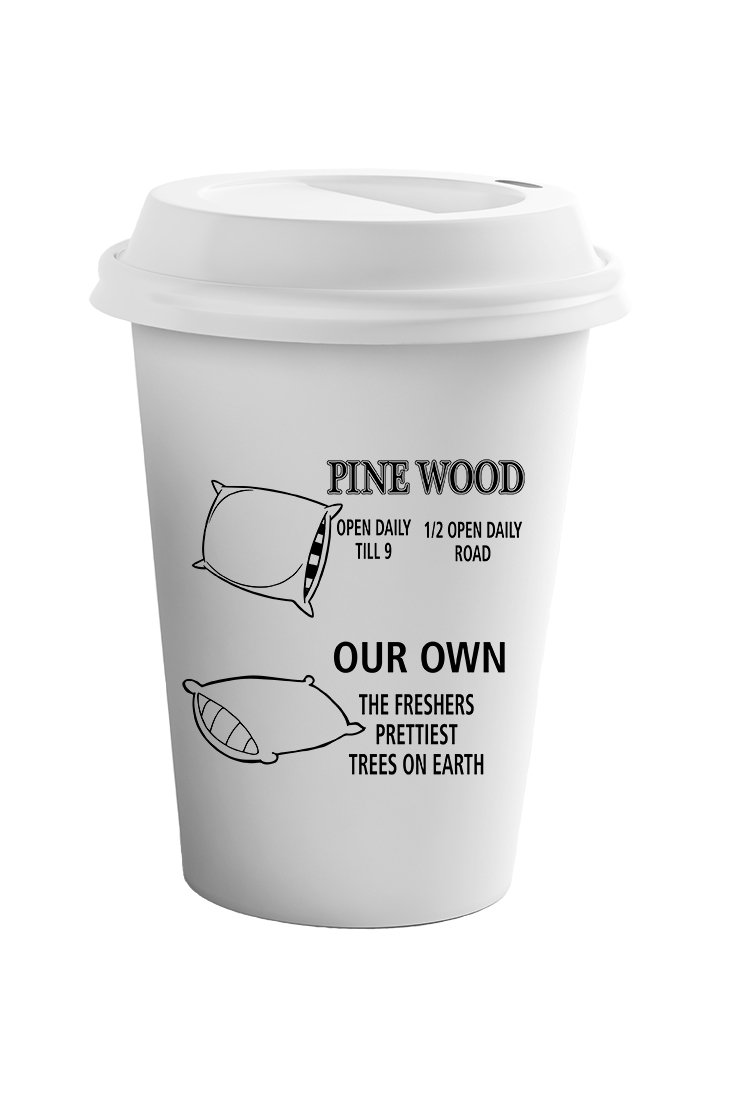 Style In Print ''Pine Wood Tree Farm Our Own'' Funny Holidays Coffee Ceramic Travel Tumbler Mug 11oz by Style in Print (Image #1)