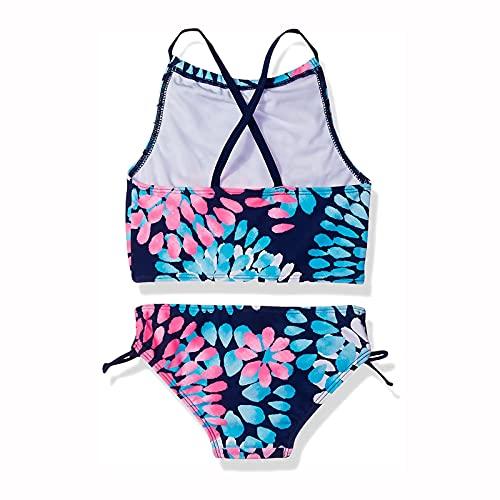 Balakie Little Girls Swim Bikini Tankini Set Tie-Dye Daisy Beach Sport Halter 2-Piece Swimsuit Swimwear Bathing Suit