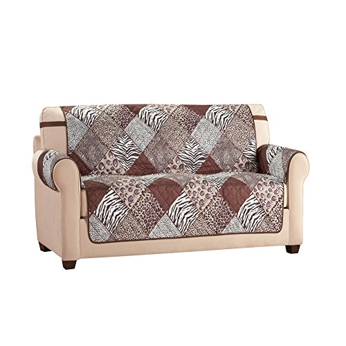 Collections Etc Reversible Safari Animal Print Furniture Protector, Loveseat by Collections Etc