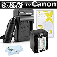 Battery And Charger Kit For Canon VIXIA HF R700, HF R72, HF R70, R82, R80, R800 Camcorder Includes Replacement BP-718 Battery + Ac/Dc Charger ++ (Replaces Canon BP-718, BP-727) Made with info-chip
