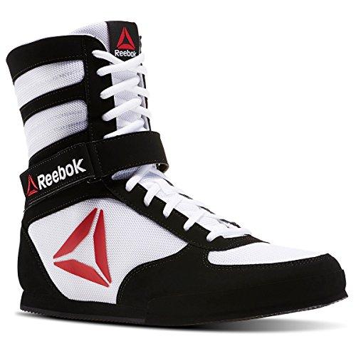 Reebok Men's Boxing Boot-Buck Sneaker, Delta-White/Black, 9 M US