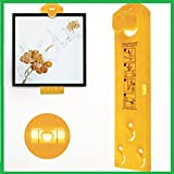 Picture hanging tool with level – Picture hanging tool for marking position and measuring the suspension and horizontal wall of the roof. Perfect tool for hanging pictures, frames, Mirrors and Clocks