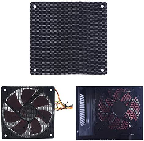 5pcs 120mm Black PC Fan Dust Filter Dustproof Case Computer Mesh PICA