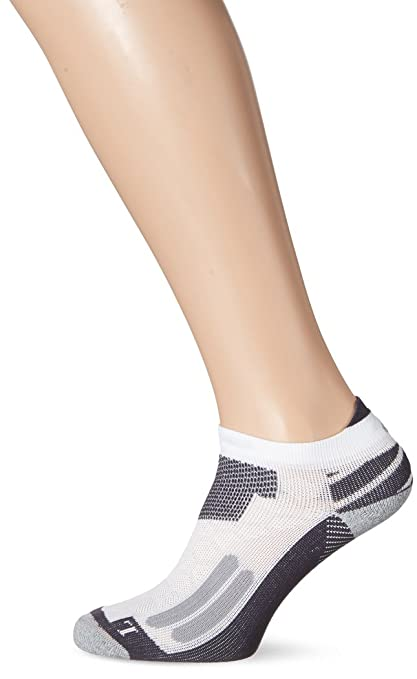 ASICS Nimbus ST Calcetines, Hombre, Blanco (Real White/Dark Grey),