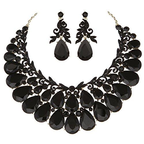 formal black dress jewelry - 5