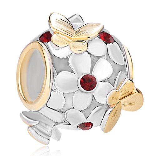 CharmsStory Sterling Birthstone Butterfly Bracelets