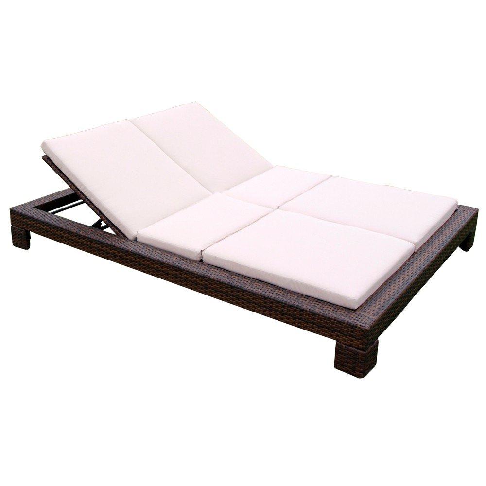 doppel liege sydney 215x162x25cm stahlgestell verstellbar polyrattan auflagen g nstig kaufen. Black Bedroom Furniture Sets. Home Design Ideas