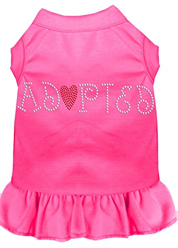 Mirage Pet Products 57-02 SMBPK Adopted Rhinestone Dress, Small, Bright Pink