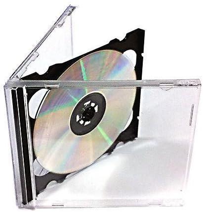 CVB Media Hochwertiges 10/x CD Jewel Case mit Schwarzem Tray Doppelbettgr/ö/ße 10/mm