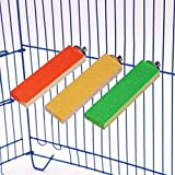 KZHAREEN Natural Wood Bird Perch Stand Grinding Platform in Birdcage Cage Accessories Toys for Pet Small Animals Parrot Parakeets Rat Chinchilla Hamster(3 Pack)