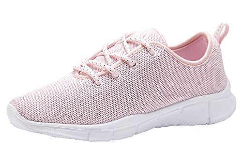 Women Fashion Sneakers Sport Shoes (Pink) - 4