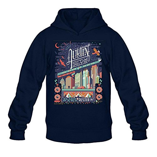 Tommery Men's Austin City Limits Long Sleeve Sweatshirts Hoodie