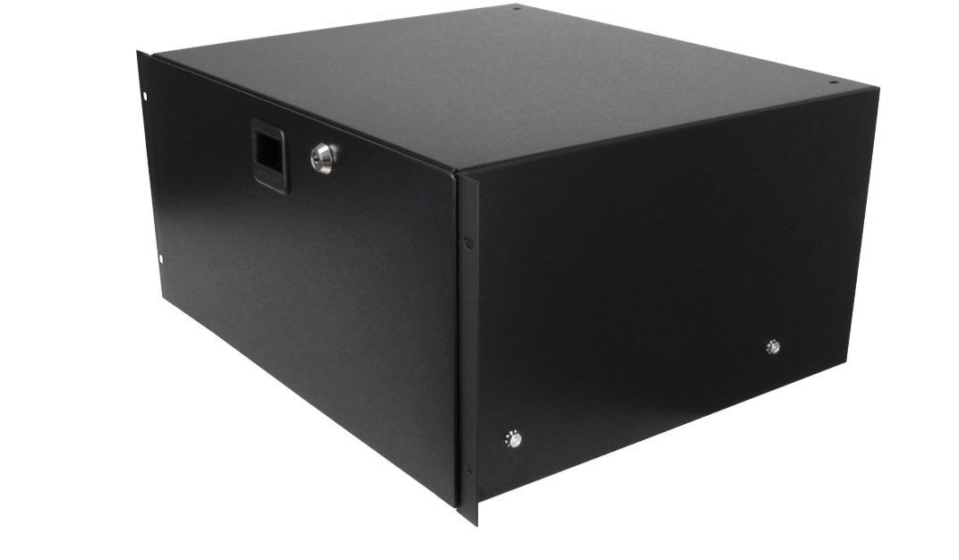 Penn Elcom 3235LK Standard Steel Rack Drawer for 5 Rack Spaces, 5U Sliding with Slam Latch & Keyed Lock, 14'' Deep Gear Storage