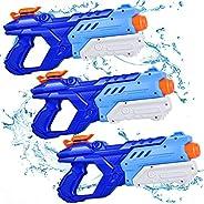 Quanquer Water Guns for Kids, 3 Pack Super Water Blaster Soaker Squirt Guns 600CC High Capacity Summer Swimmin