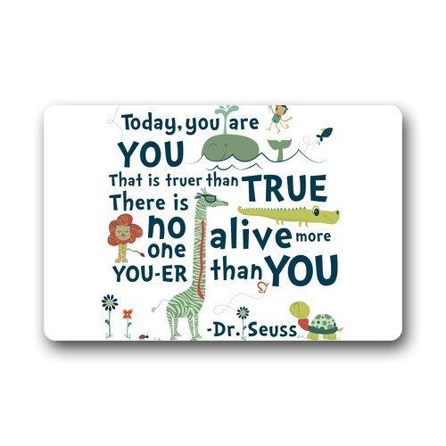 Fandim Fly Custom Dr.Seuss:Today you are Door Mats Rug Non-Skid Slip Rubber Indoor Kitchen Entry 18 x 30 inch -