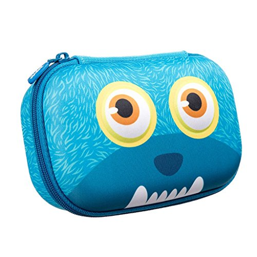- ZIPIT Wildlings Pencil Case/Pencil Box/Storage Box, Blue