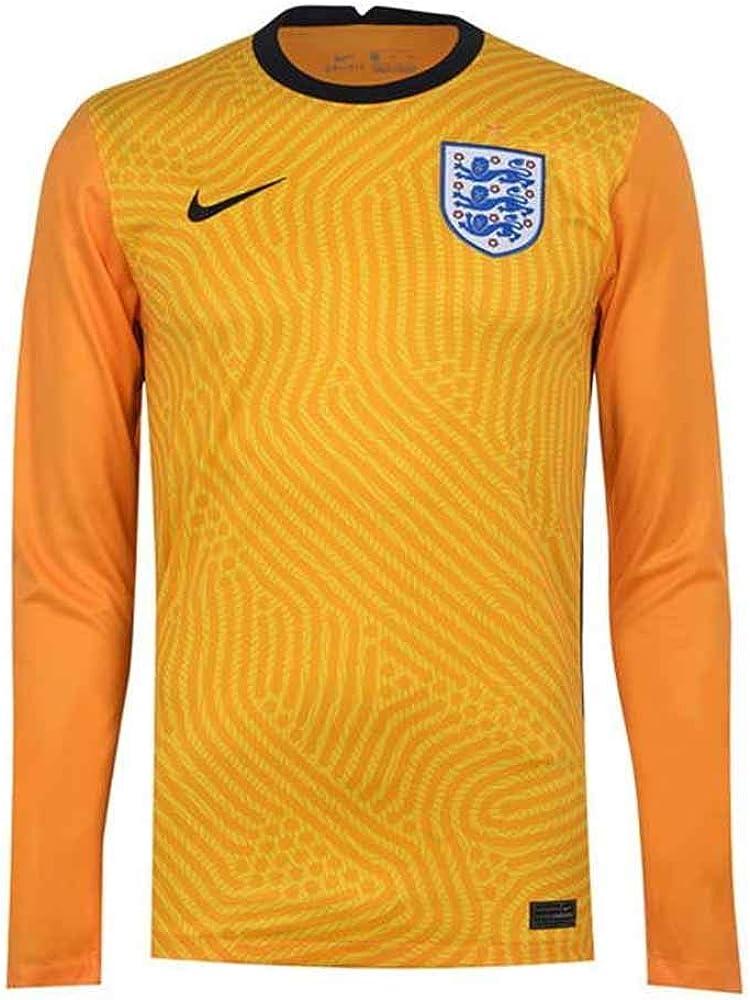 Nike 2020-2021 England Home Goalkeeper Football Soccer T-Shirt Jersey (Yellow)