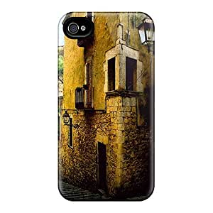 New Style Case Cover RinZJLD5375CtruM Streets Of Girona Compatible With Iphone 4/4s Protection Case