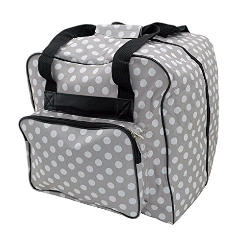 Hemline Dotty Gray Polka Dot Serger or Overlock Tote Bag ()