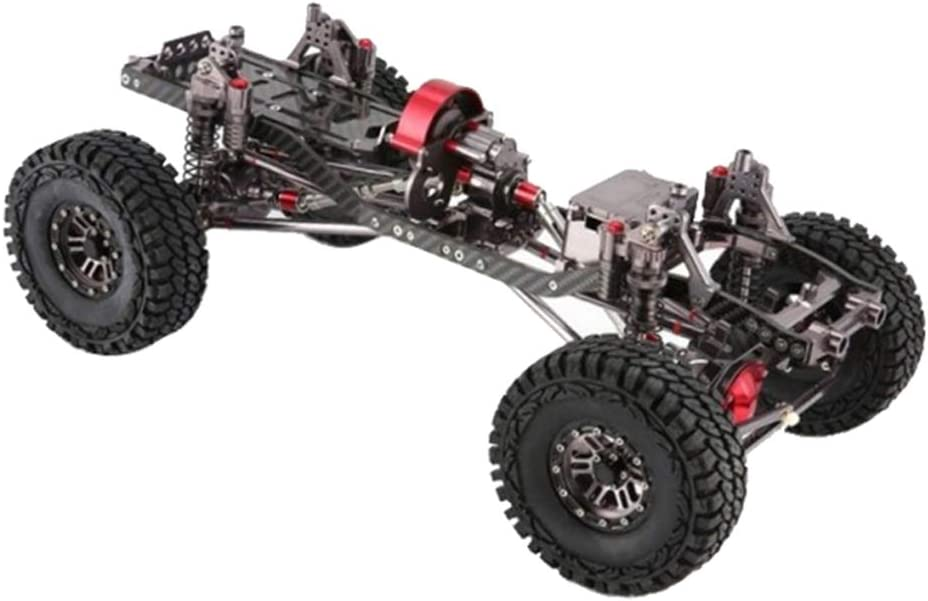 Hellery 1/10 RCホイールベース 組み立て DIY 金属製 車体シャーシフレーム 衝撃吸収 AXIAL SCX10対応