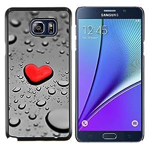 """Be-Star Único Patrón Plástico Duro Fundas Cover Cubre Hard Case Cover Para Samsung Galaxy Note5 / N920 ( Gota del corazón Red Rain"""" )"""
