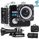 WiMiUS 4K Action Camera HD 20MP 30M Underwater Cameras Wifi Helmet Cam 170° Wide Angle 2.0