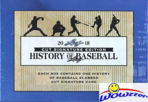 2018 Leaf History of Baseball Factory Sealed Box with Slabbed Cut Signature AUTOGRAPH! Look for Slabbed Cut Signature of Babe Ruth, Lou Gehrig, Mickey Mantle, Joe Dimaggio,Ted Williams & More! WOWZZER