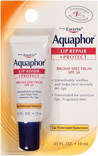 Aquaphor Lip Repair + Protect Lip Balm Sunscreen UVA/UVB ...