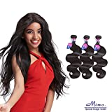 Brazilian Body Wave 3 Bundles, Mornice Hair 10A Virgin Human Hair Extensions Natural Color 16 18 20inch Review