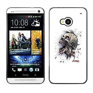 Cubierta protectora del caso de Shell Plástico || HTC One M7 || Cráneo Zombie Evil @XPTECH