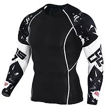NATURE T Men's SuperHero Sports Cool Dry Compression Baselayer Long Sleeve Shirt