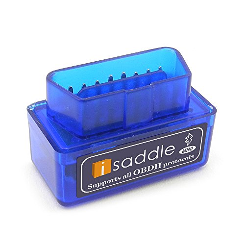 - iSaddle Super Mini OBD2 OBDII Scan Tool Check Engine Light & CAN-Bus Auto Diagnostic Tool for Windows & Android Torque (Blue Color, Super Mini)
