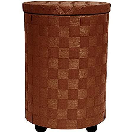 Oriental Furniture 26-Inch Round Lidded Hamper, Honey JH090080-HON