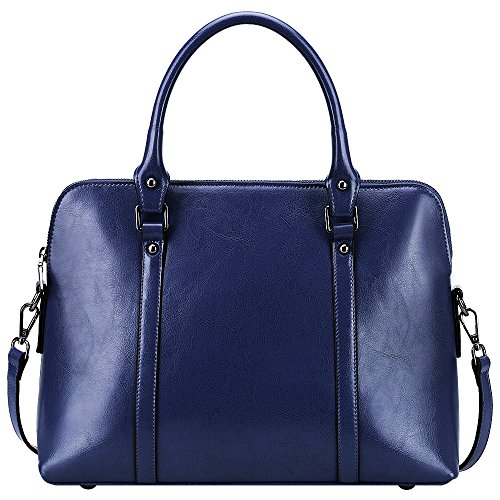 S ZONE Genuine Leather Briefcase Shoulder