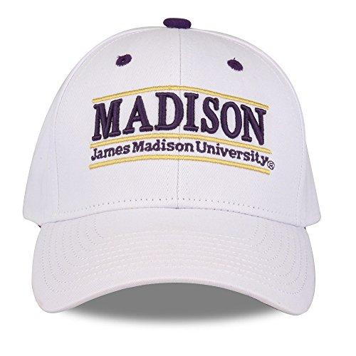 (NCAA James Madison Dukes Unisex NCAA The Game bar Design Hat, White, Adjustable)