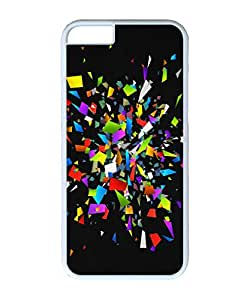 VUTTOO Iphone 6 Case, Colorful Glass Shattered Pieces Customize Hard Back Case for Apple iPhone 6 4.7 Inch PC White