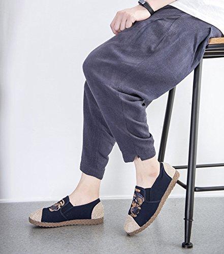 Hombres Kirin bordaron Azul Étnico del Paño hellomiko Estilo Los Los Los del Viento de Zapatos Zapatos 7qRP7anY
