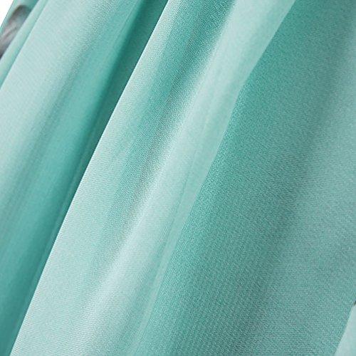 Vestido Sin Cuello Mangas Verde MissFox Estampado Maxi Vestidos 6XL S Mujeres Gasa Halter wqEnCUf